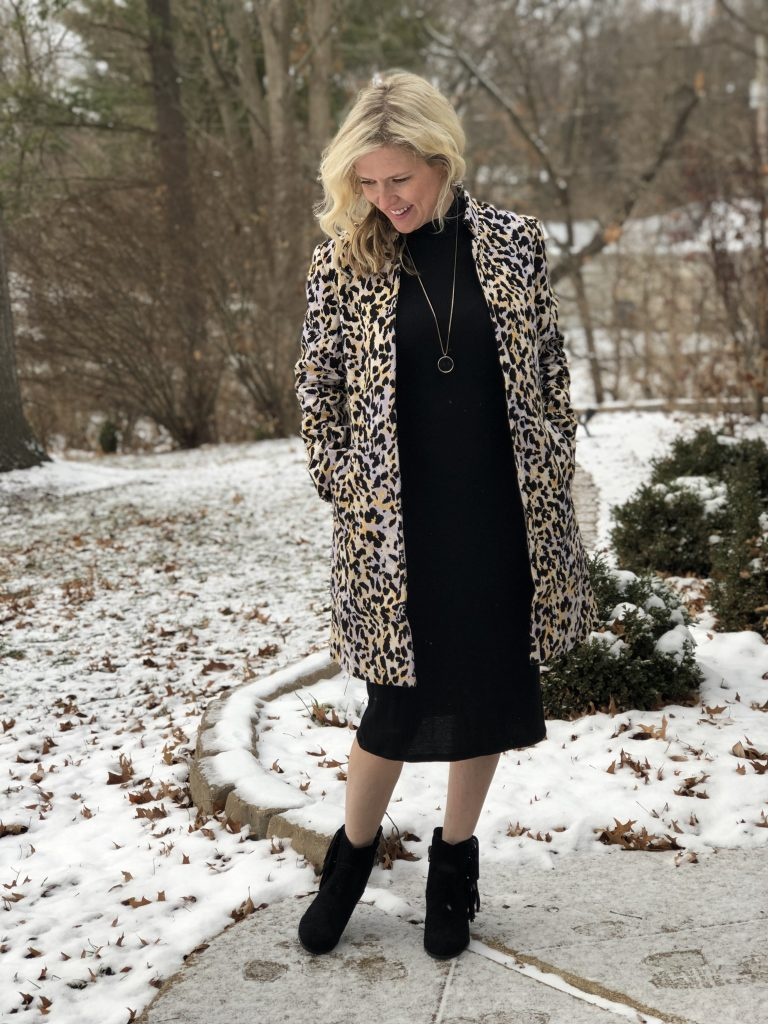 leopard short coat