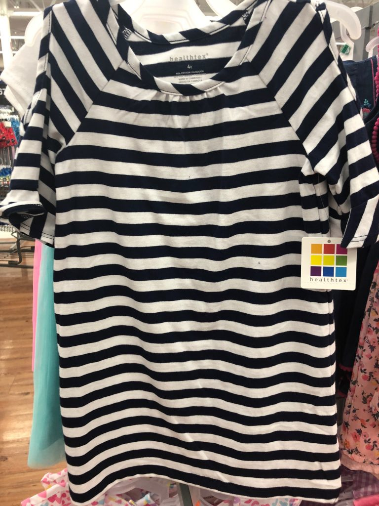 Healthtex navy stripe toddler dress | The Best Walmart Purchases: 20 Things you Won't Believe are from Walmart featured by top Missouri fashion blogger, Emmy Lou Styles