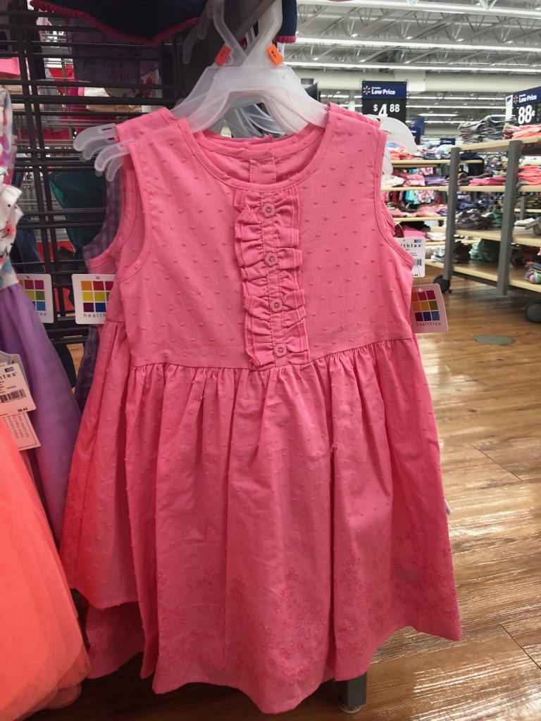 Walmart Pink Healthtex Dress | The Best Walmart Purchases: 20 Things you Won't Believe are from Walmart featured by top Missouri fashion blogger, Emmy Lou Styles