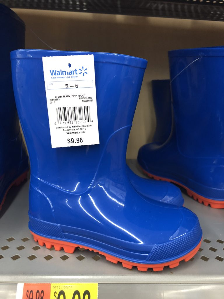 walmart blue toddler rain boots | The Best Walmart Purchases: 20 Things you Won't Believe are from Walmart featured by top Missouri fashion blogger, Emmy Lou Styles