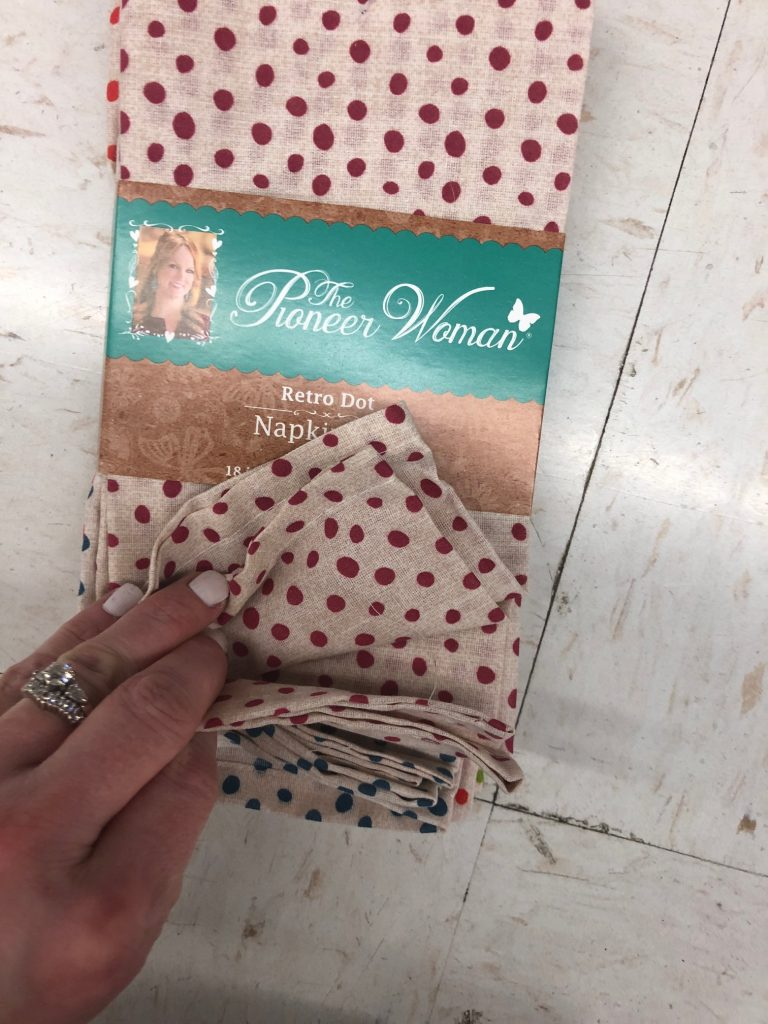 pioneer woman polka dot napkins  | The Best Walmart Purchases: 20 Things you Won't Believe are from Walmart featured by top Missouri fashion blogger, Emmy Lou Styles