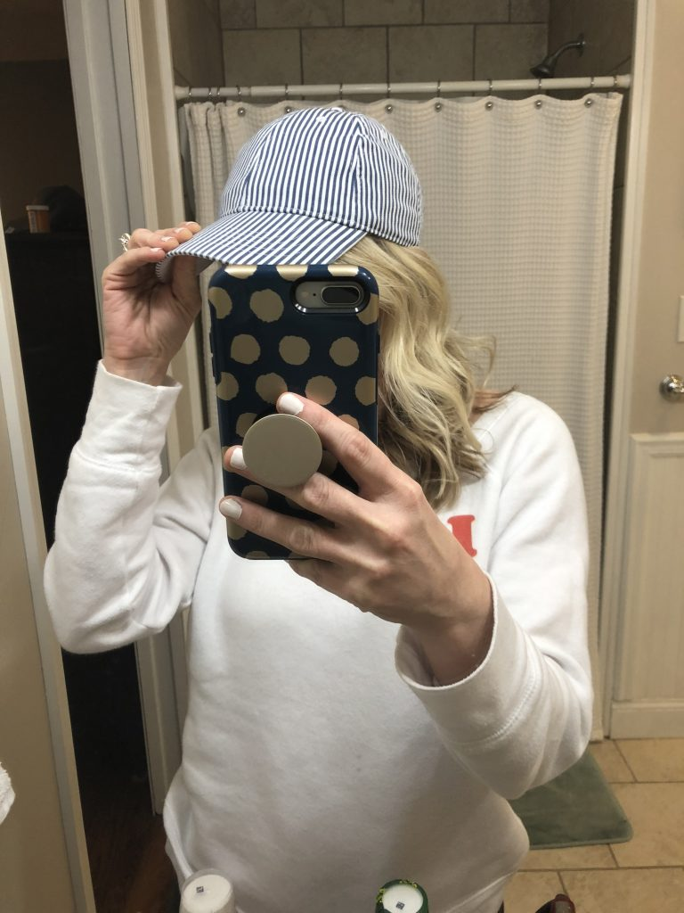 walmart time and tru seersucker ladies hat | The Best Walmart Purchases: 20 Things you Won't Believe are from Walmart featured by top Missouri fashion blogger, Emmy Lou Styles