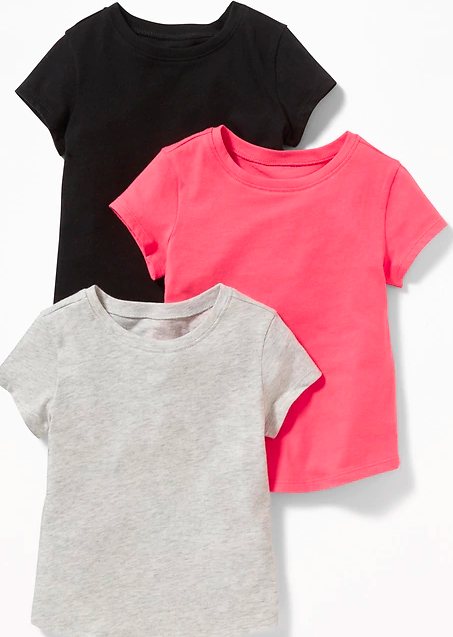 old navy toddler girl three pack tshirts