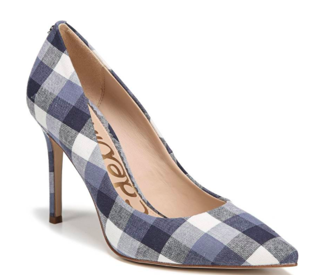sam edelman gingham hazel pump