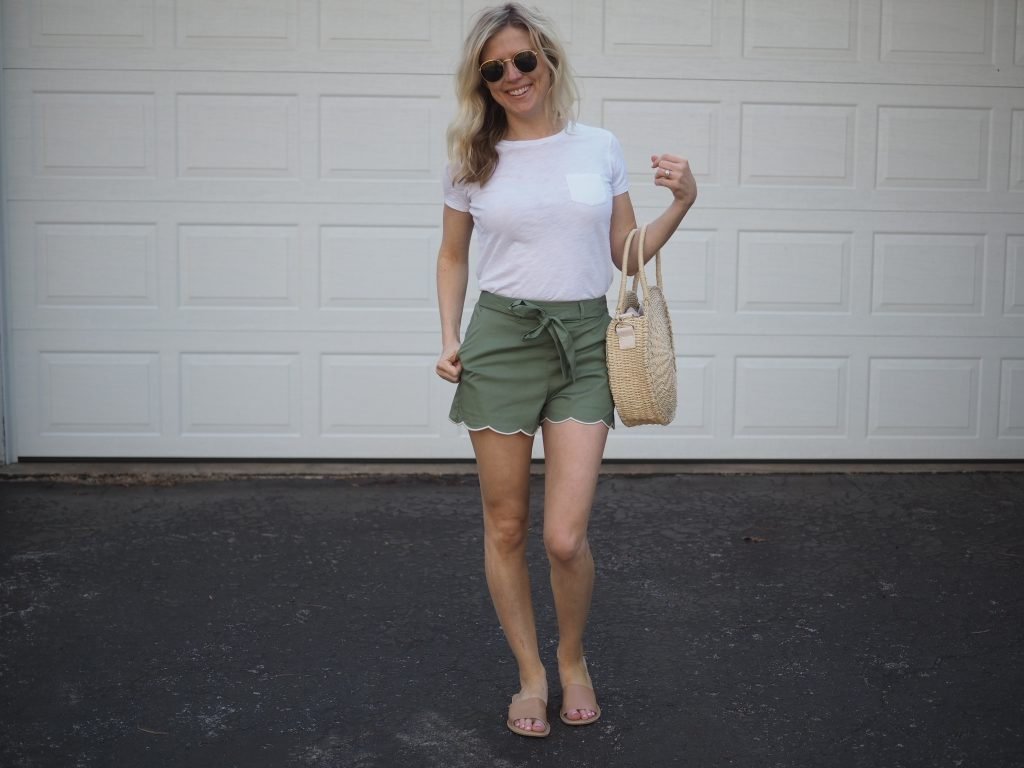 scallop hem women's shorts from nordstrom