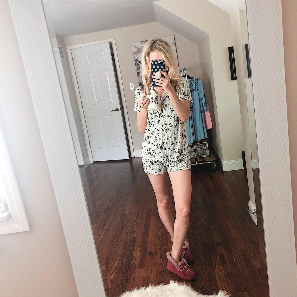 target floral pajama set