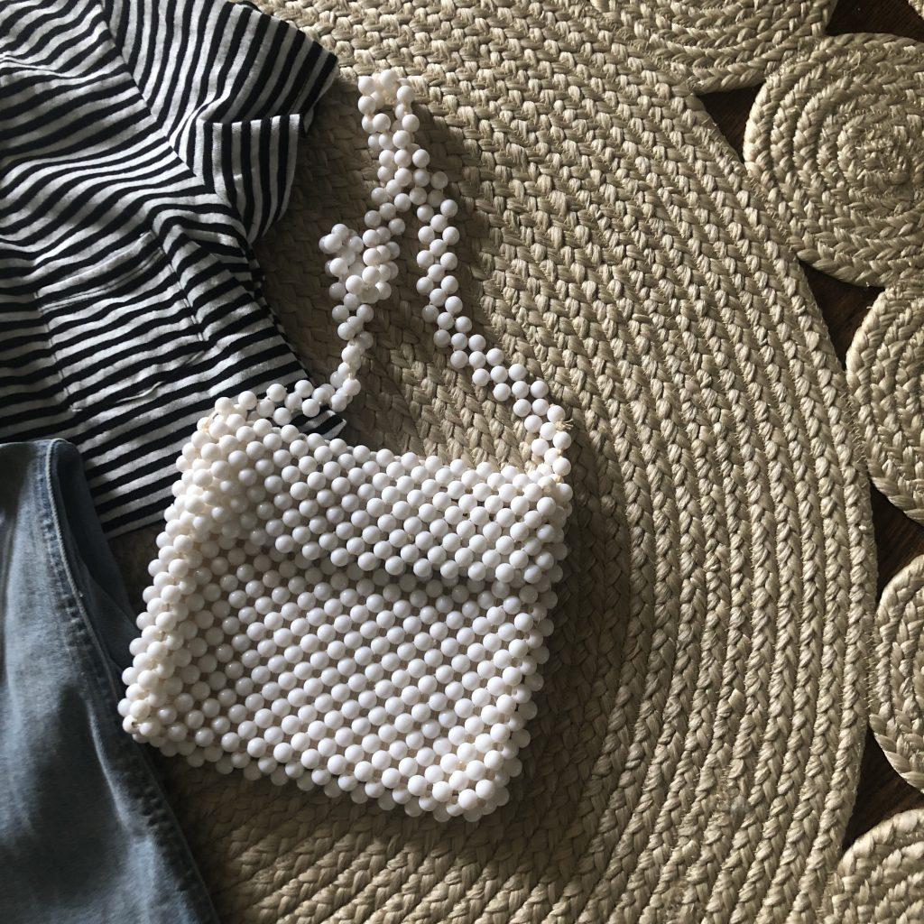 beaded crossbody purse