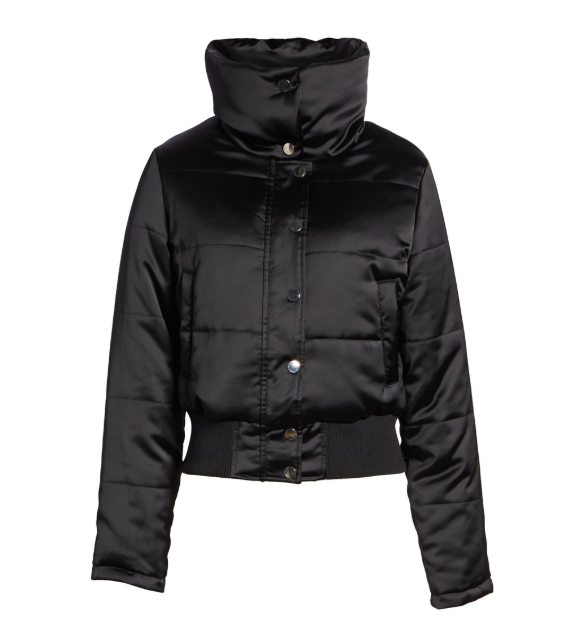 black puffer jacket women's