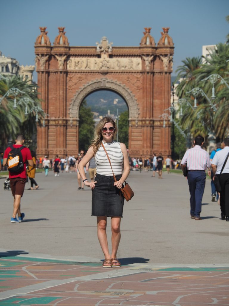 The Arc de Triomf in Barcelona is a lovely spot for taking pictures.