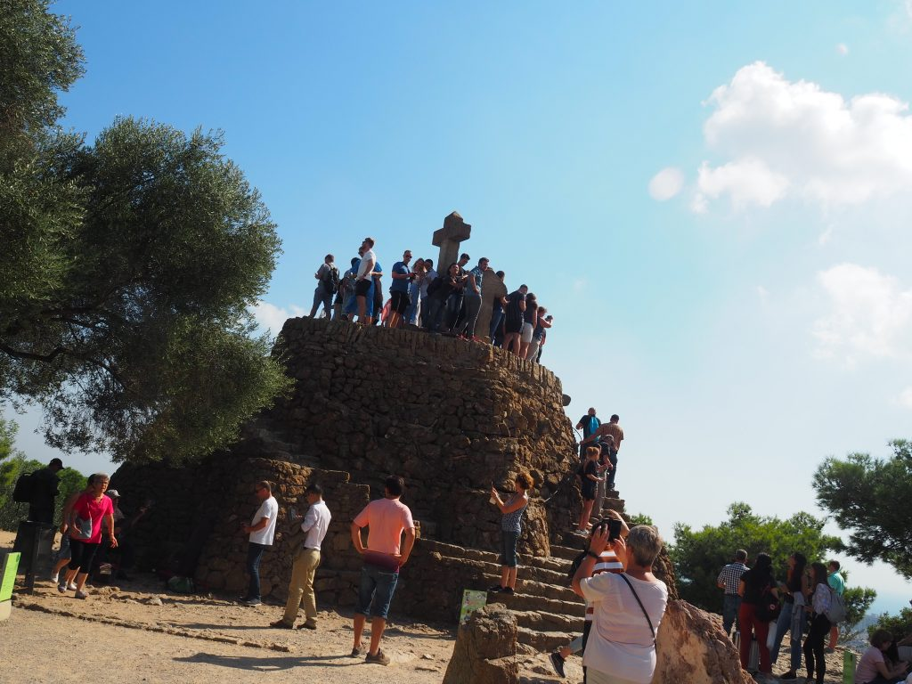 Climb to the top of Turó de les tres creus in Park Guell - 10 Things to do in Barcelona