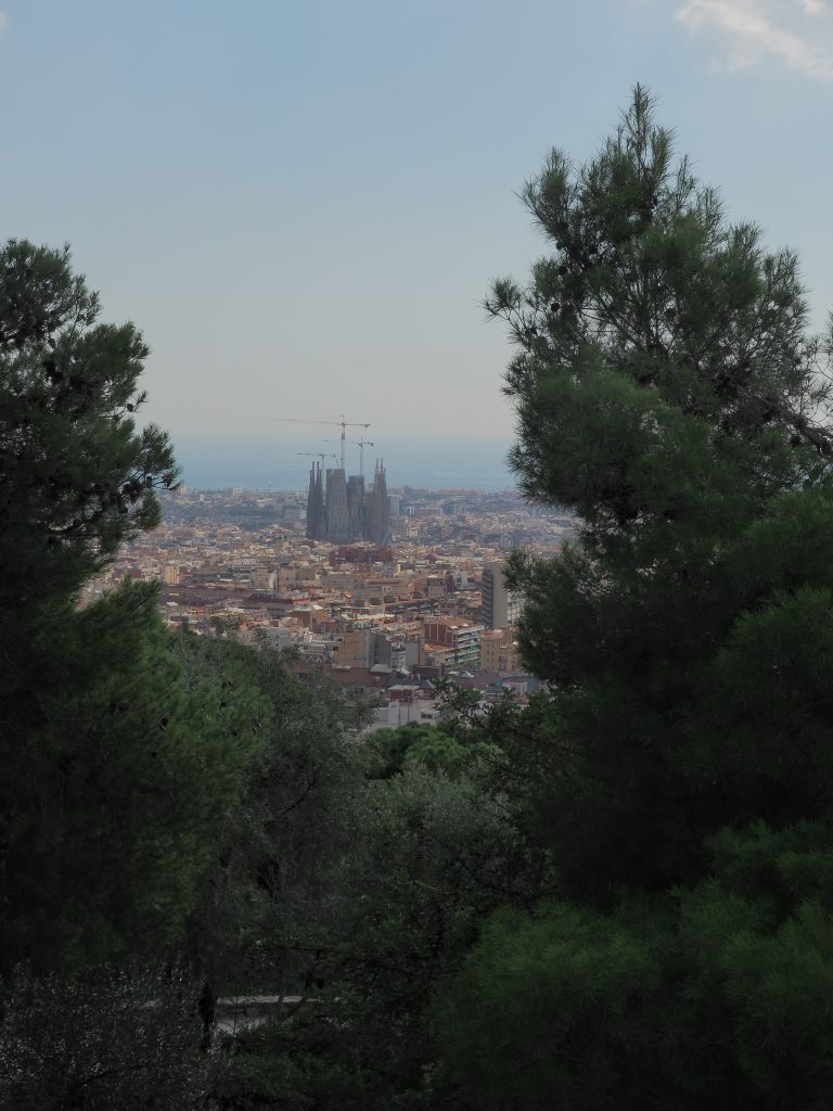 View from the top of Turó de les tres creus in Park Guell - 10 Things to do in Barcelona