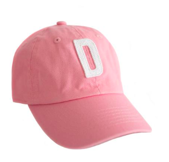 Personalized baseball hats with your initial for toddlers and adults