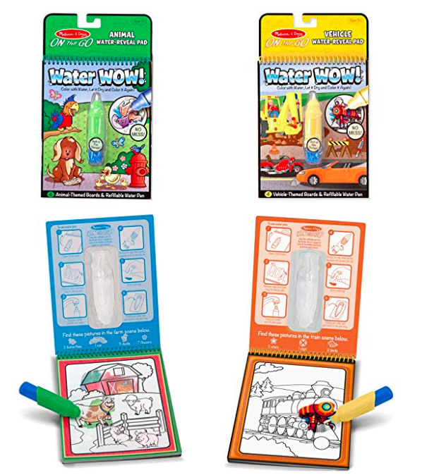 Water Wow Coloring Books by Melissa and Doug are perfect for road trips!