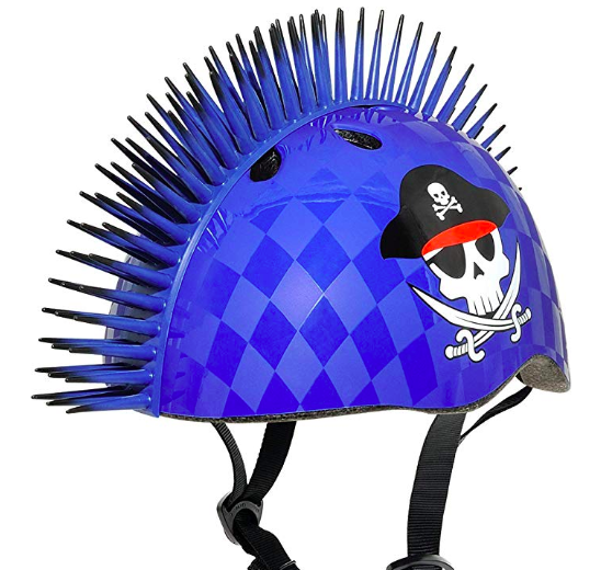 The Raskullz Mohawk Child Bike Helmet makes a great unique gift for kids
