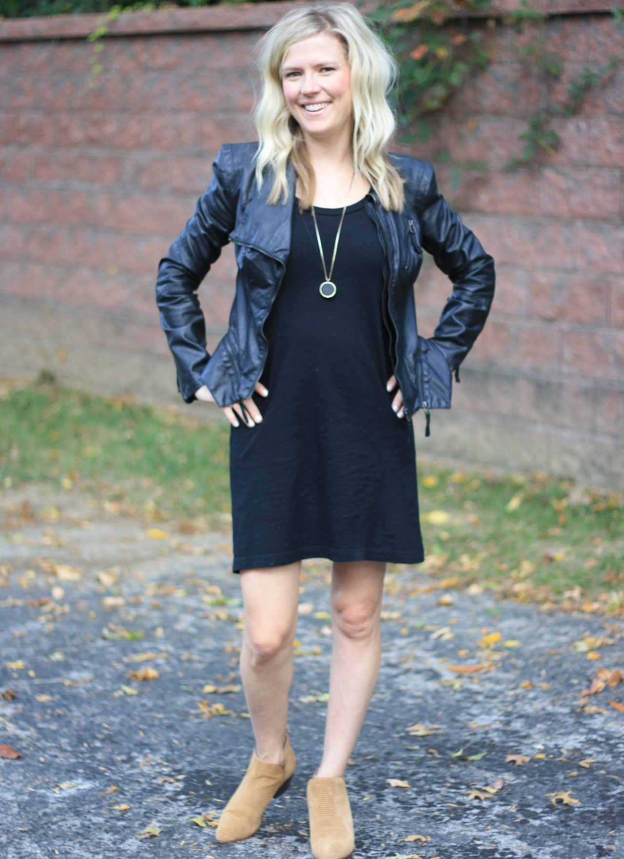 Transitioning to Fall:  How to Style Your Black T-Shirt Dress