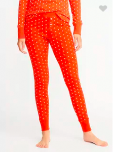 Women's Pajama Gift Ideas featured by top US fashion blogger, Emmy Lou Styles: image of Old Navy pattern thermal sleep leggings