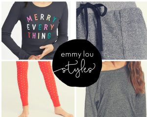 Women's Pajama Gift Ideas featured by top US fashion blogger, Emmy Lou Styles