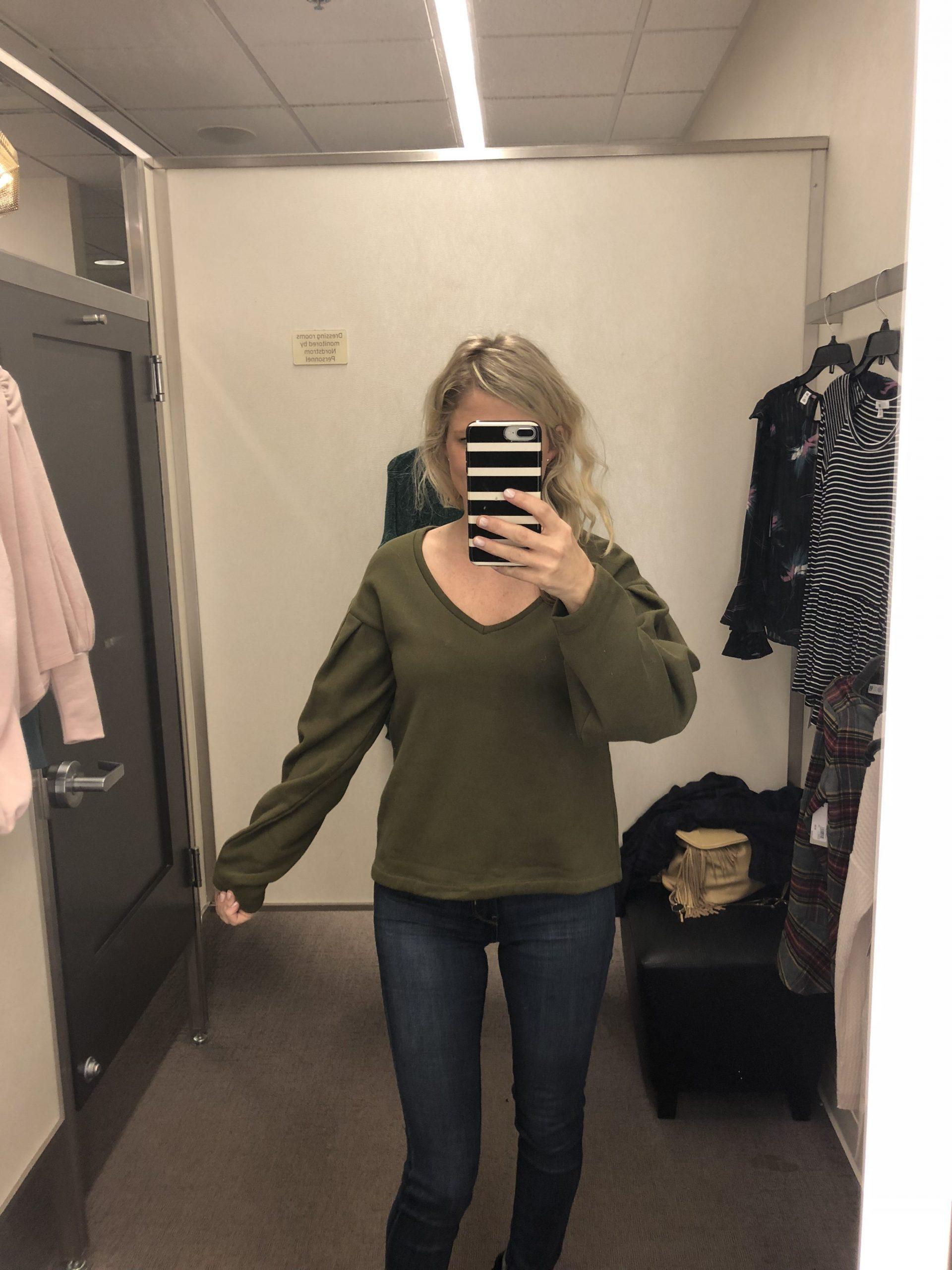 Pleat Sleeve Sweater