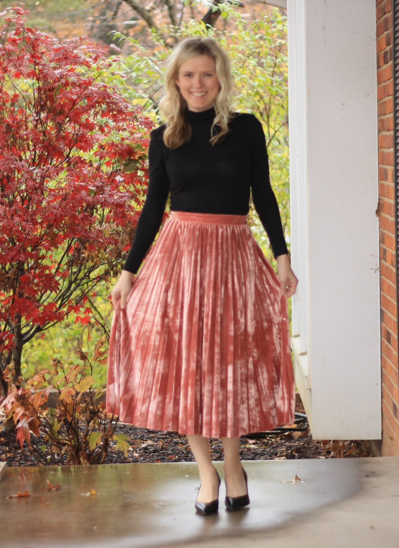 Clad and Cloth Puns N' Roses Skirt