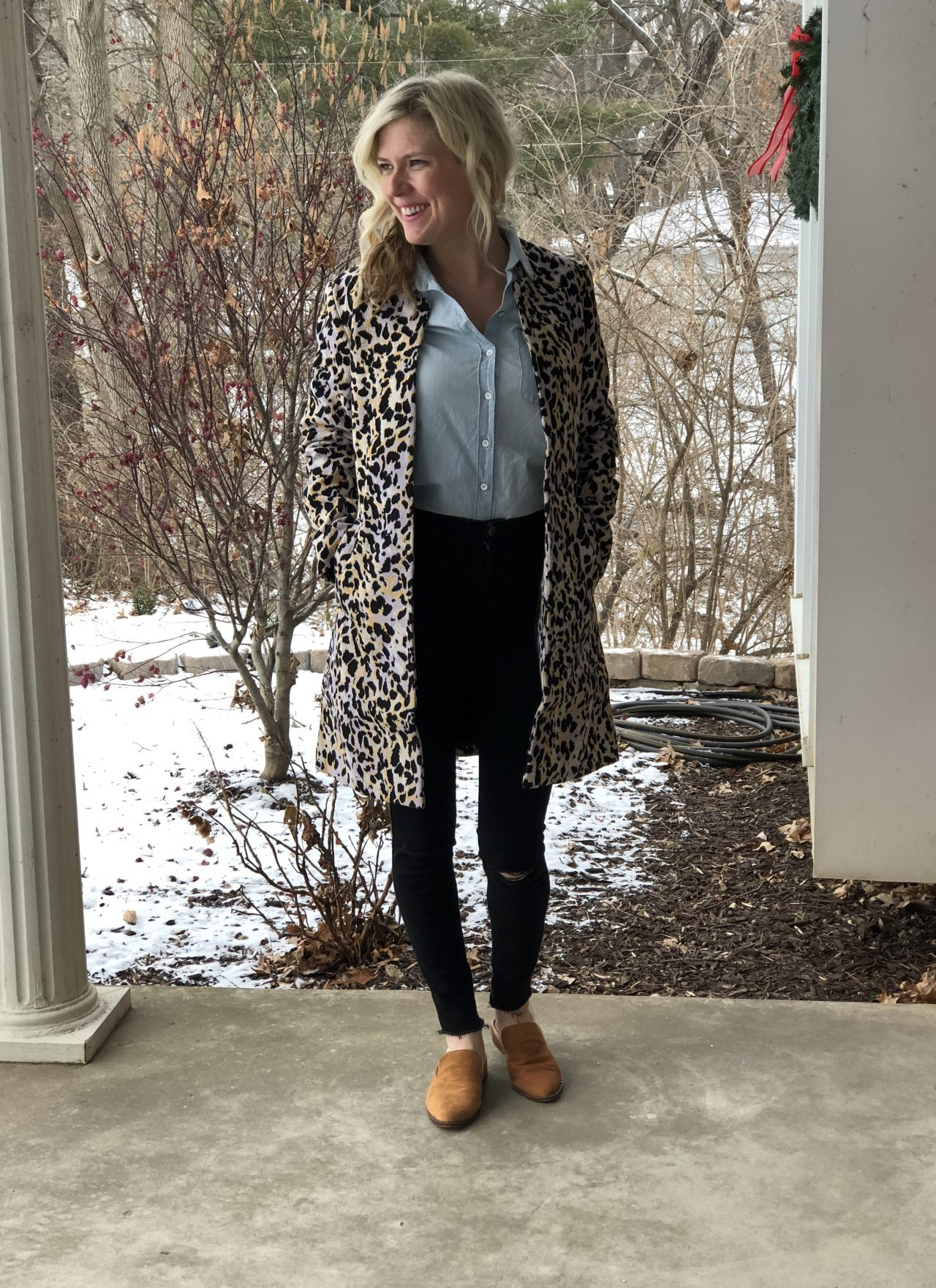 How to style a leopard coat