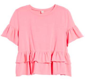 bp. pink peplum shirt