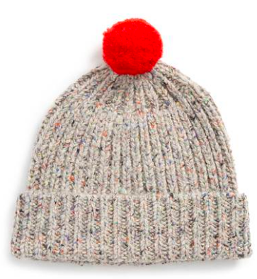 Cute Valentines Day Essentials featured by top US fashion blogger, Emmy Lou Styles: image of a madewell pompom beanie
