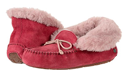 Cute Valentines Day Essentials featured by top US fashion blogger, Emmy Lou Styles: image of a alena garnet ugg slippers