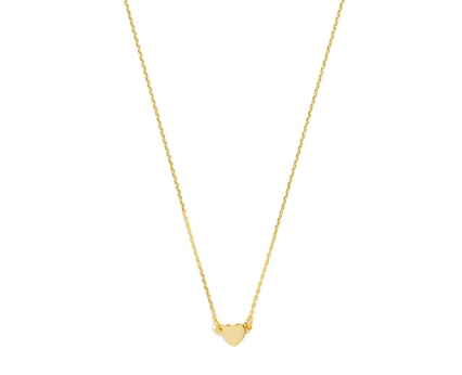 Cute Valentines Day Essentials featured by top US fashion blogger, Emmy Lou Styles: image of a gold bauble bar heart necklace