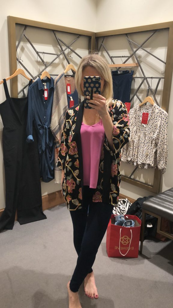 evereve sayer embroidered kimono featured by top US fashion blogger, Emmy Lou Styles