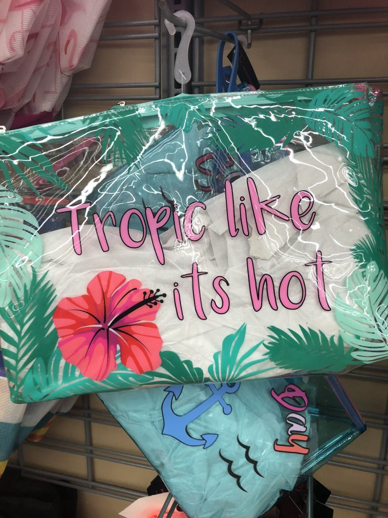 walmart tropic like its hot clear zipper pouch | The Best Walmart Purchases: 20 Things you Won't Believe are from Walmart featured by top Missouri fashion blogger, Emmy Lou Styles