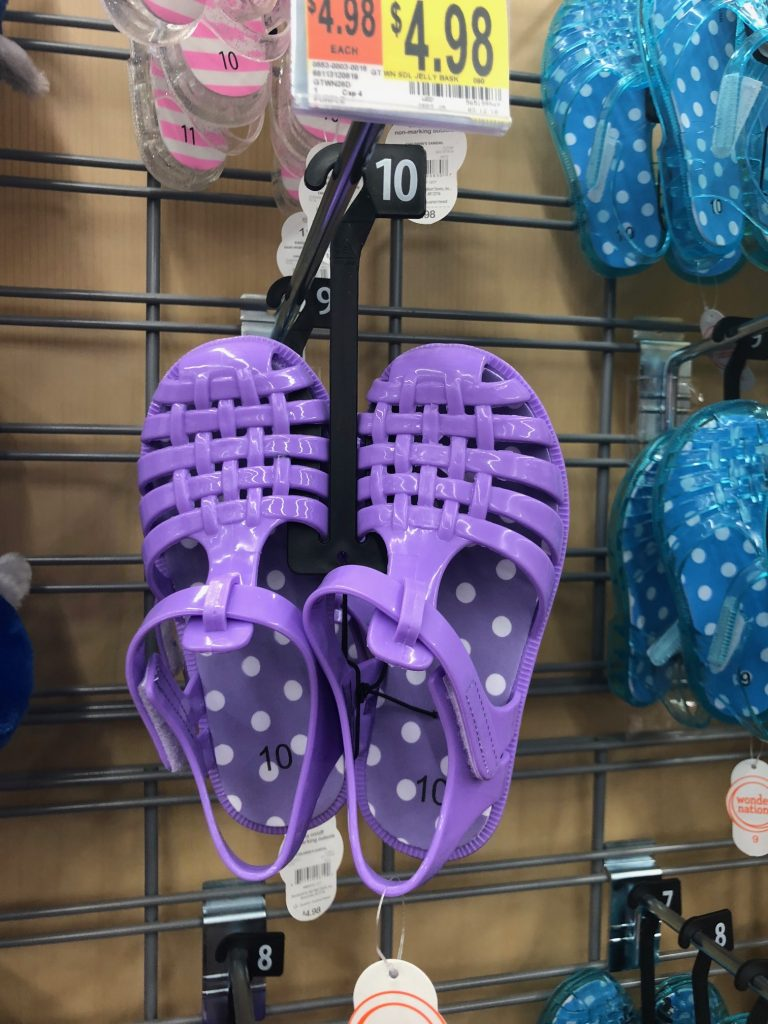 Walmart Wonder Nation Purple Jelly Sandals | The Best Walmart Purchases: 20 Things you Won't Believe are from Walmart featured by top Missouri fashion blogger, Emmy Lou Styles
