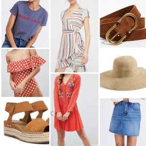 picture of various women's clothing collage