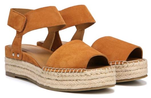 franco sarto oak espadrille sandal