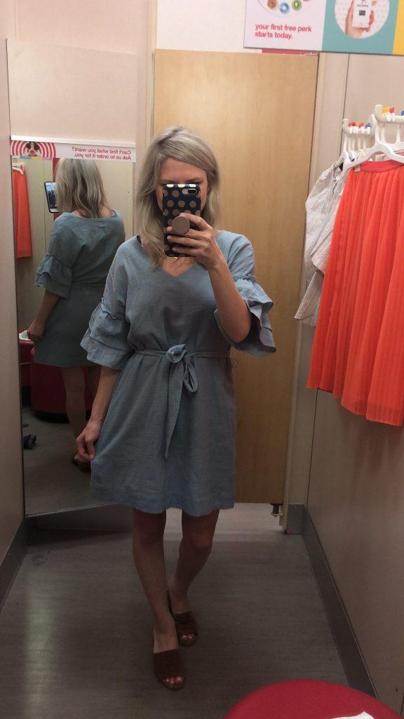 universal thread blue wrap dress