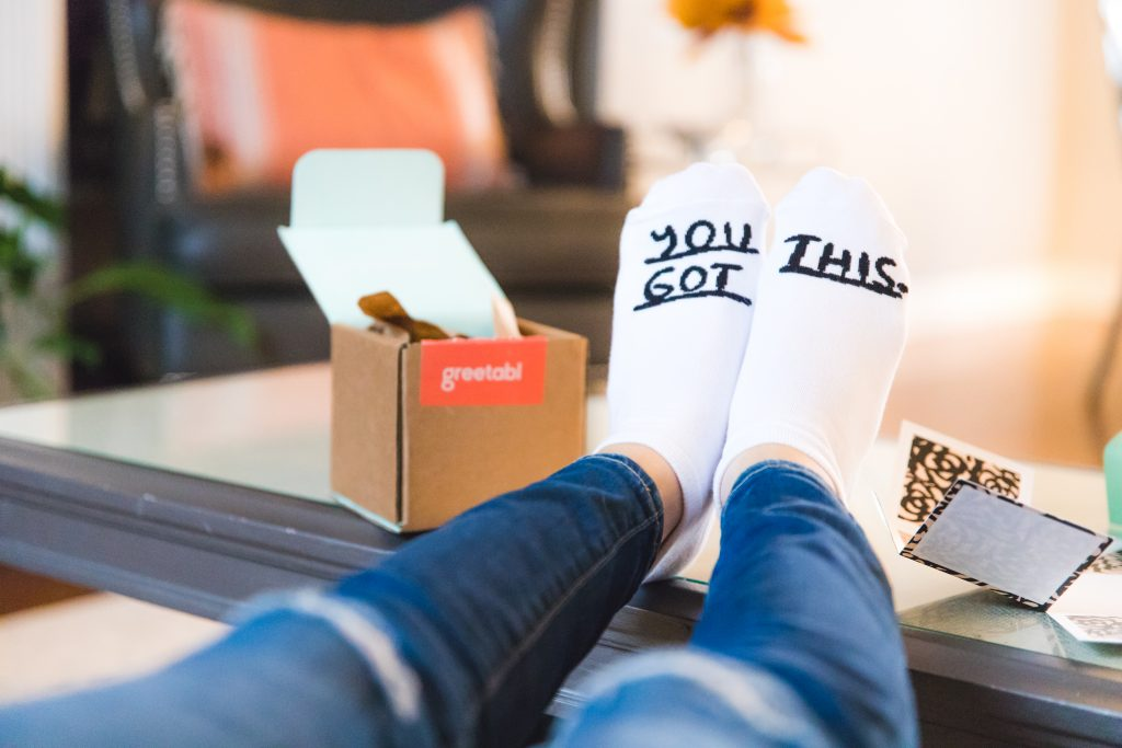 you got this socks from greetabl | personalized gift box: greetabl review featured by top Missouri life and style blogger, Emmy Lou Styles