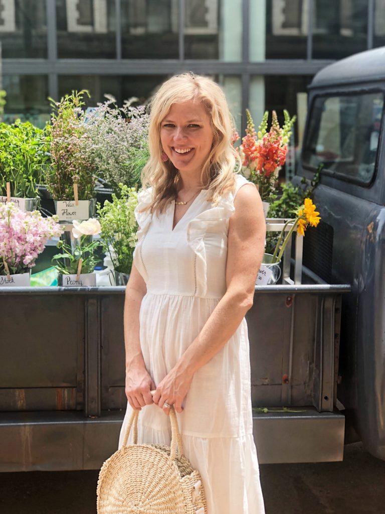midi white summer dress