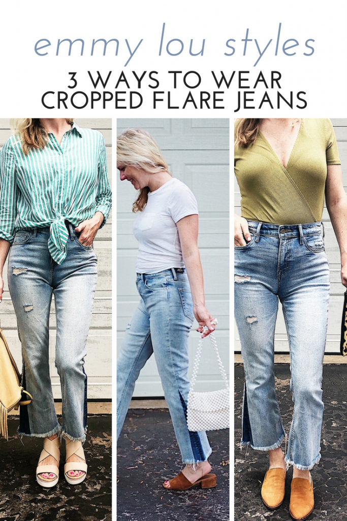 how to wear cropped flare jeans
