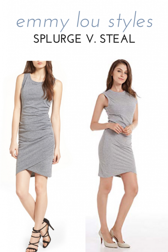 ruched leith bodycon dress