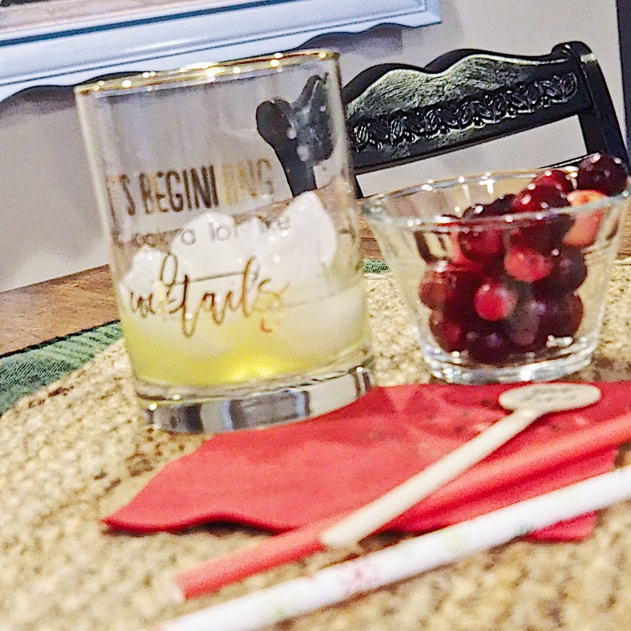 A Festive Holiday Cocktail with Tulle and Twig