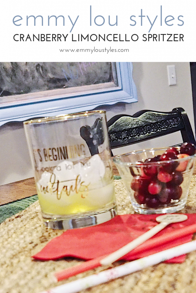 Emily from Emmy Lou Styles shares how to make a cranberry limoncello spritzer.