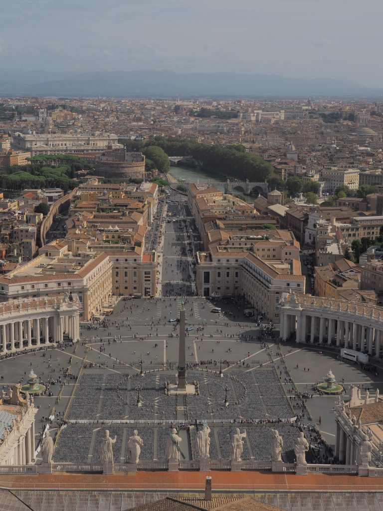 A picture from the top of St. Peter's Basilica - Emmy Lou Styles Life and Style Blog