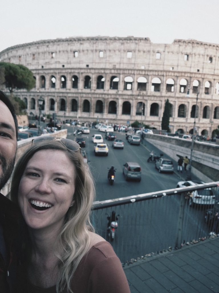 The bridge outside of the Colosseum is a great spot to take pictures