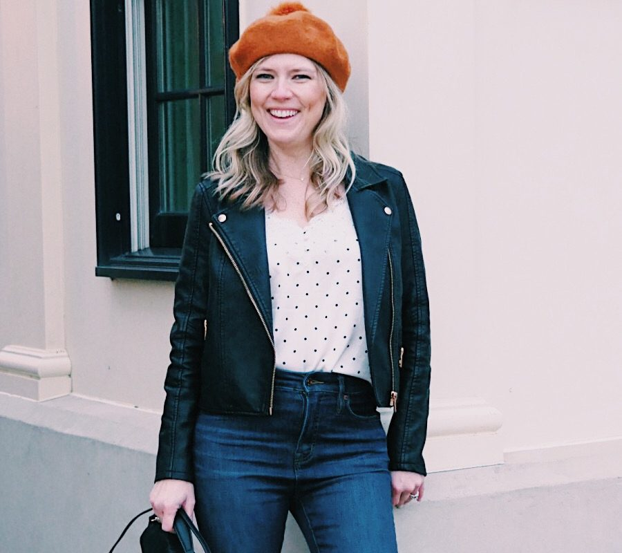 Emily from Emmy Lou Styles shares how she styles the Madewell beret from Nordstrom.