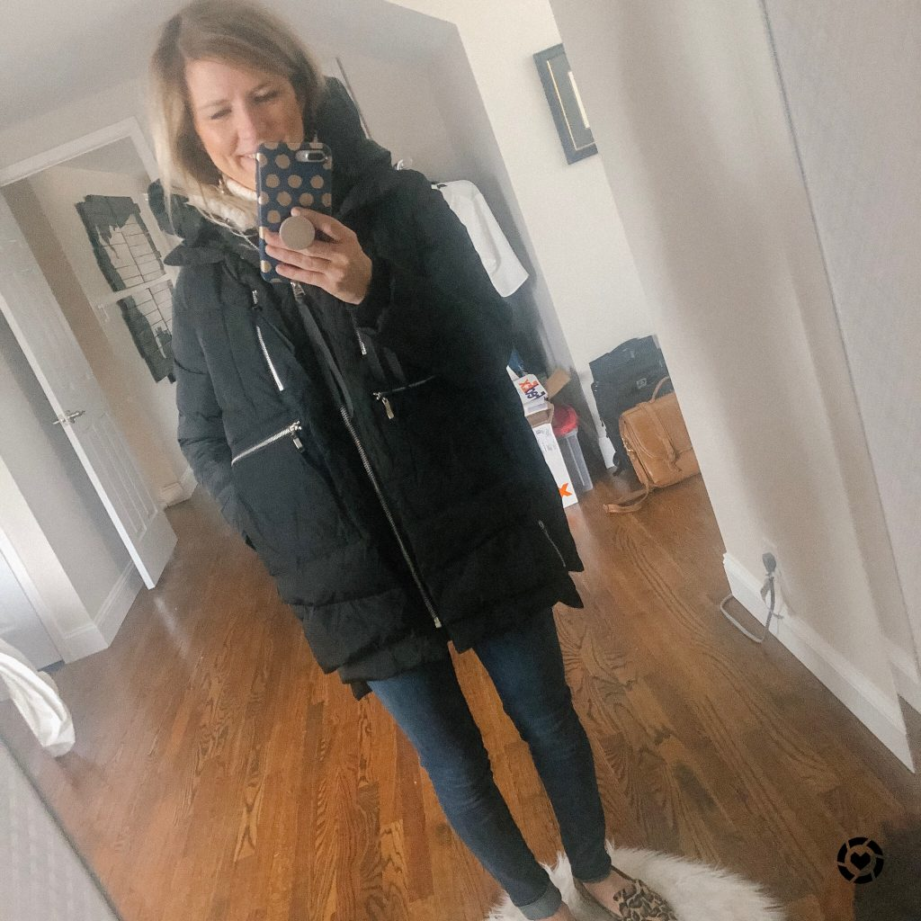 Top 9 Current Amazon Favorites by top US fashion blogger, Emmy Lou Styles: picture of a woman wearing an Amazon Coat