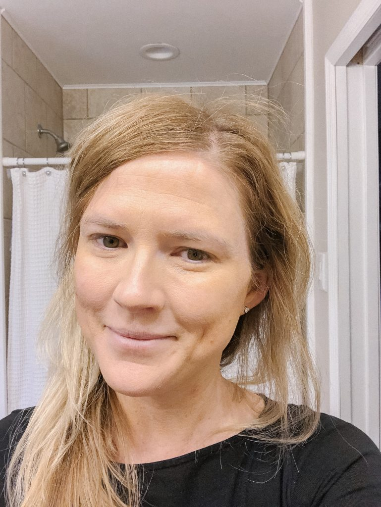 Ever Skin Daily Facial Foundation; image of women's face wearing Ever Skin's daily facial foundation