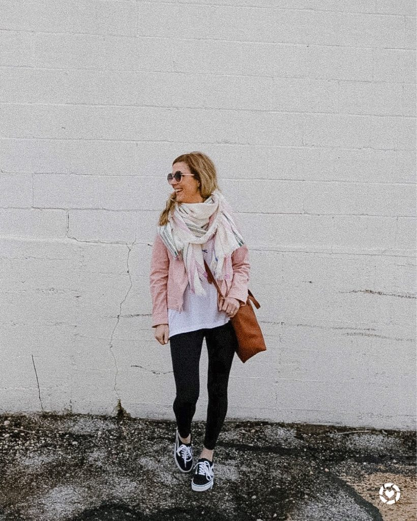 Pink Moto Jacket with Leggings