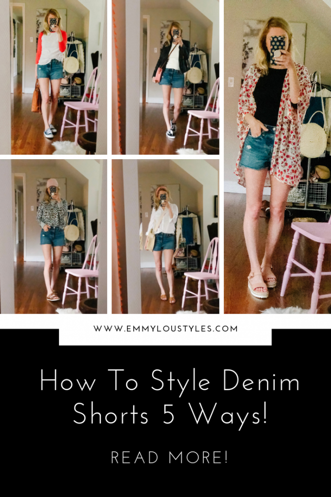 5 ways to style your denim shorts!