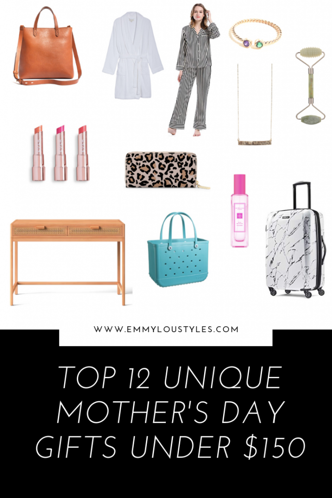 Top 12 Under $150 Mother's Day Gifts; Emily from Emmy Lou Styles shares a round up of 12 unique gifts for moms that are under $150