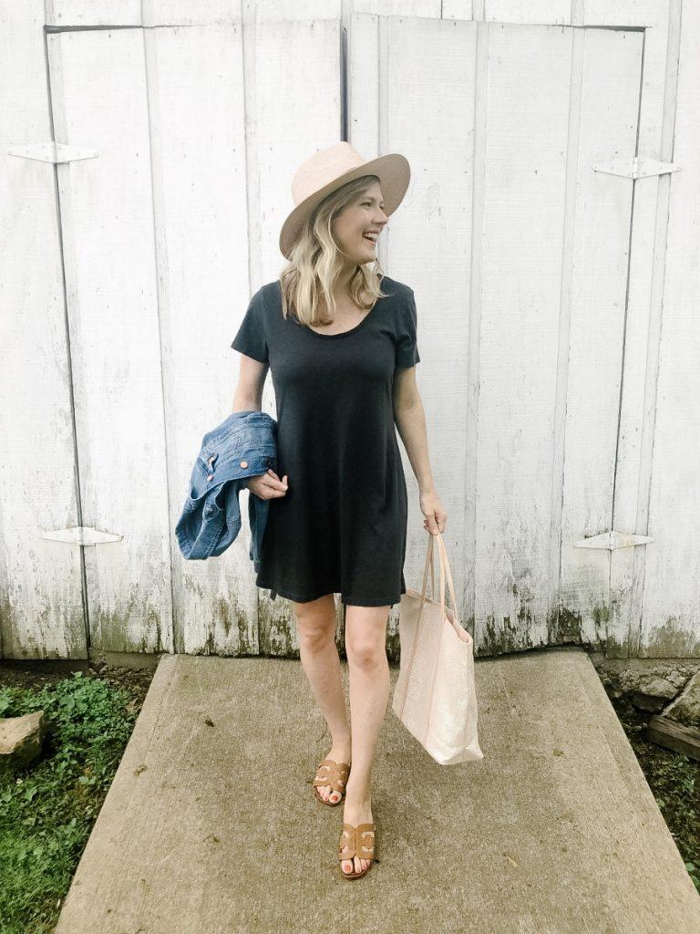 Black tshirt dress from Target