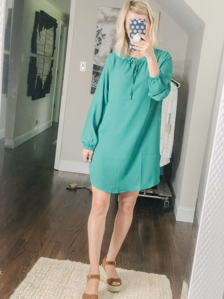 Kelly green shirt dress from Gibson Look available at Nordstrom